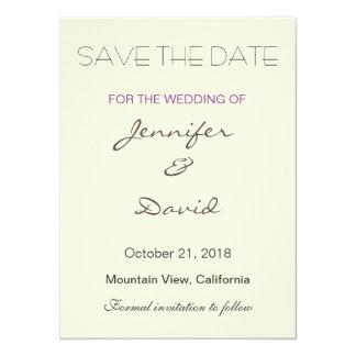 Beige Background Grey Modern Wedding Invitation