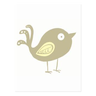 Beige Bird Post Card