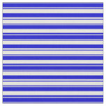 [ Thumbnail: Beige & Blue Colored Stripes Fabric ]