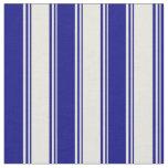 [ Thumbnail: Beige & Blue Pattern of Stripes Fabric ]