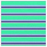 [ Thumbnail: Beige, Blue, Slate Blue, Light Sky Blue & Green Fabric ]