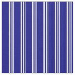 [ Thumbnail: Beige & Blue Striped/Lined Pattern Fabric ]