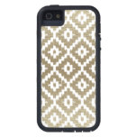 Beige Brick Aztec Tribal Print Ikat Diamond Pattrn Case For iPhone SE/5/5s