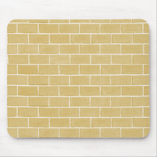 beige brick background mouse pad