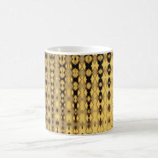 Beige & brown backgammon design- cup