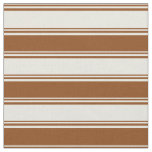 [ Thumbnail: Beige & Brown Colored Lines/Stripes Pattern Fabric ]