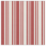 [ Thumbnail: Beige & Brown Colored Stripes/Lines Pattern Fabric ]