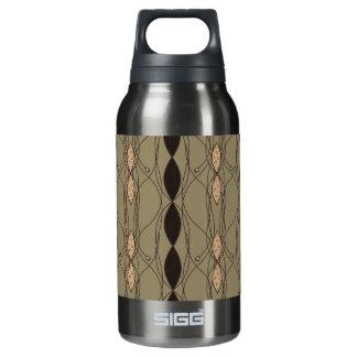 Beige & Brown Funky Pattern Insulated Water Bottle