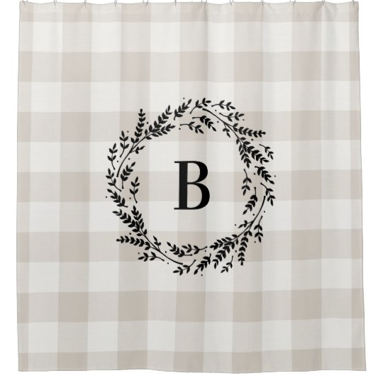 Beige Buffalo Check Monogram