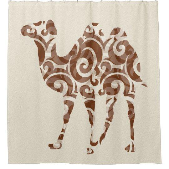 Beige Camel Shower Curtain