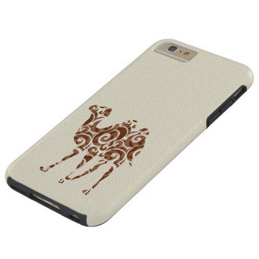 Beige camel tough iPhone 6 plus case