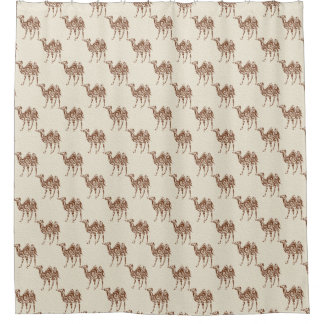 Beige camels shower curtain