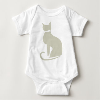 Beige Cat Infant Baby Bodysuit