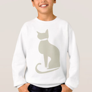 Beige Cat Kids' Sweatshirt