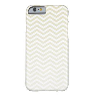 Beige Chevron; zig zag Barely There iPhone 6 Case