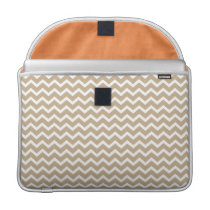 Beige Chevrons Pattern MacBook Pro Sleeve