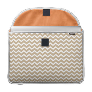 Beige Chevrons Pattern MacBook Pro Sleeve