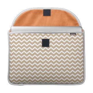 Beige Chevrons Pattern Sleeves For MacBooks
