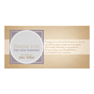 Beige Circle P Square Tags Sympathy Thank you P Card