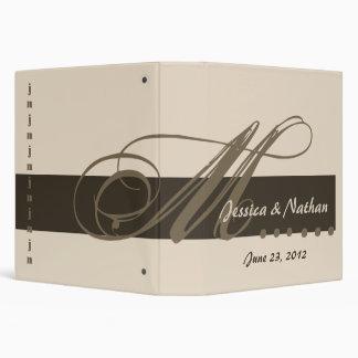 BEIGE COFFEE CHOCOLATE Custom Wedding  Planner 3 Ring Binder