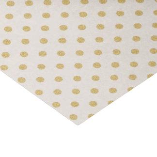 Beige con los lunares del oro papel de seda pequeño