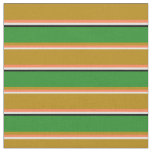 [ Thumbnail: Beige, Coral, Dark Goldenrod, Forest Green & Black Fabric ]