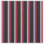 [ Thumbnail: Beige, Cornflower Blue, Crimson, Maroon, and Black Fabric ]