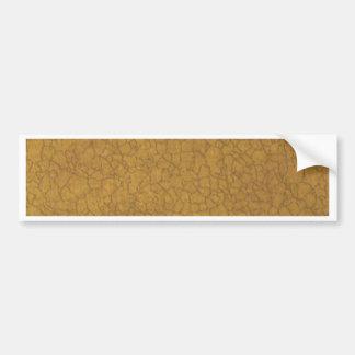Beige Crackle Bumper Sticker