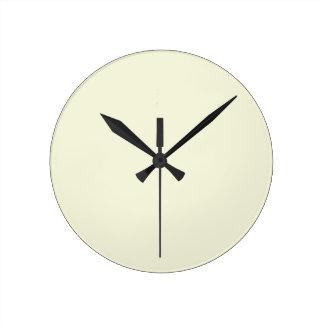 Beige Cream  Elegant Fashion Color Round Wall Clock