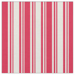 [ Thumbnail: Beige & Crimson Colored Lines Pattern Fabric ]