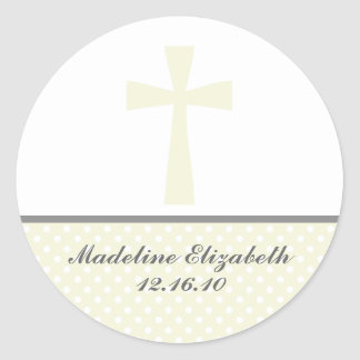 Beige Cross Stickers