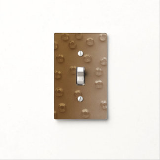 BEIGE CRYSTALS SINGLE TOGGLE SWITCH LIGHT SWITCH PLATE