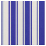 [ Thumbnail: Beige & Dark Blue Colored Lines/Stripes Pattern Fabric ]