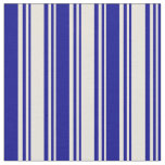 [ Thumbnail: Beige & Dark Blue Colored Pattern Fabric ]