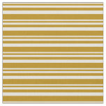 [ Thumbnail: Beige & Dark Goldenrod Colored Lines Fabric ]