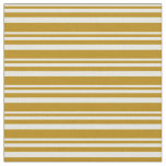 [ Thumbnail: Beige & Dark Goldenrod Colored Pattern Fabric ]