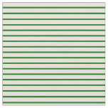 [ Thumbnail: Beige & Dark Green Colored Lines Fabric ]