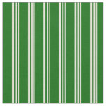 [ Thumbnail: Beige & Dark Green Colored Pattern Fabric ]