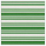 [ Thumbnail: Beige & Dark Green Colored Stripes Pattern Fabric ]