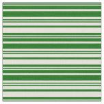 [ Thumbnail: Beige & Dark Green Lined/Striped Pattern Fabric ]