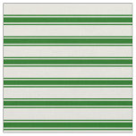 [ Thumbnail: Beige & Dark Green Lines Pattern Fabric ]