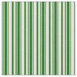 [ Thumbnail: Beige & Dark Green Pattern of Stripes Fabric ]