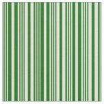[ Thumbnail: Beige & Dark Green Striped Pattern Fabric ]