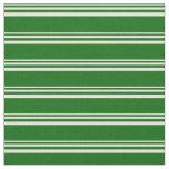[ Thumbnail: Beige & Dark Green Stripes Pattern Fabric ]