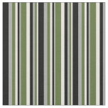 [ Thumbnail: Beige, Dark Olive Green, Dark Gray & Black Colored Fabric ]