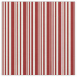 [ Thumbnail: Beige & Dark Red Colored Stripes/Lines Pattern Fabric ]