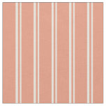 [ Thumbnail: Beige & Dark Salmon Colored Lines Pattern Fabric ]
