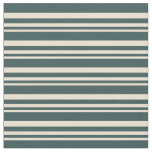 [ Thumbnail: Beige & Dark Slate Gray Colored Lined Pattern Fabric ]
