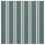 [ Thumbnail: Beige & Dark Slate Gray Lines/Stripes Pattern Fabric ]