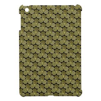 Beige de color caqui céltico del triskele espiral  iPad mini coberturas